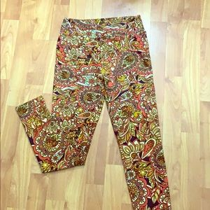 LuLaRoe leggings fall/thanksgiving print ONE SIZE